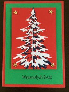 kartk świąteczna z choinką